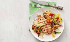 Rezept für Putensteak mit Avocado Grill Pan, Grilling, Low Carb, Vegetables, Tableware, Kitchen, Food, Avocado Salat, Clean Eating