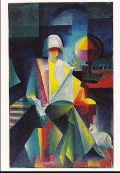 Der Bachsänger (Helge Lindberg) by Johannes Itten, 1916 Cubist Paintings, Cubism Art, Georges Braque, Art Bauhaus, Nadir Afonso, Color Terciario, Johannes Itten, Rene Magritte, Art Database