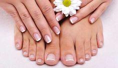 diseños de uñas punta francesa para pies - Buscar con Google