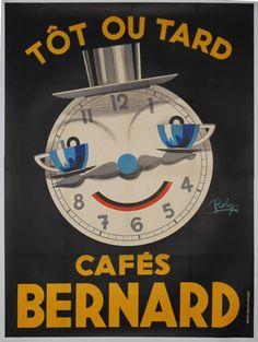 Tôt ou tard...Café Bernard - années 1950 - illustration de Robys -