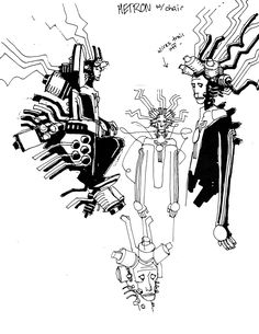 """New Gods"" concept art by Mike Mignola"