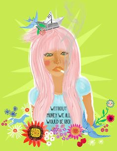 without moneylimited edition art print of 50 by sevenstar on Etsy, $17.00