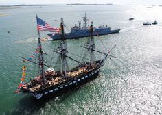 The oldest commissioned warship in the world that is still afloat. Old Ironsides, USS Constitution
