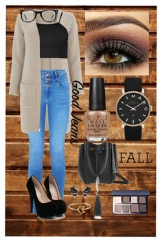 """#Fallish"" by frejax3 ❤ liked on Polyvore featuring OPI, Marc by Marc Jacobs, Yves Saint Laurent, Warehouse, Boohoo, Muse, Bobbi Brown Cosmetics, Nak Armstrong and Stefanie Sheehan Jewelry"