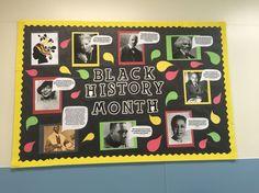 Black History Month bulletin board: