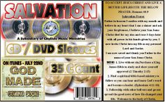 35 DVD CD CD-R Paper Sleeve with Window & GOD MADE Bundle.CD Sleeves Paper #SALVATIONCDSleevesPaperGODMADECDCases