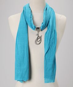 Take a look at this Turquoise Scarf & Pendant by Gift Connection on #zulily today!