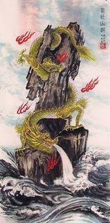 Chinese Dragon Painting,50cm x 100cm,4739014-x
