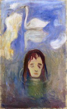 Edvard Munch - Vision (1892), oil on canvas 72 x 45 cm. Munch Museum, Oslo.