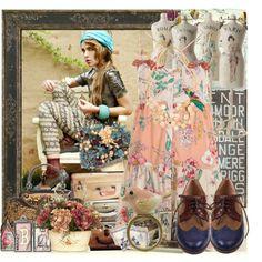 """""""Le Bunny Bleu vintage"""" by jodente on Polyvore  le bunny bleu, lebunnybleu, lebunnybleu.com, shoes, flats, jodente, jo dente, Nadja Seale LOOKBOOK.nu"""
