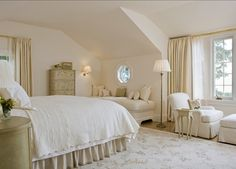 Ivory White, Benjamin Moore. This white is understated and simple, with just the right balance of freshness and warmth.