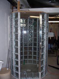 cool glass block shower