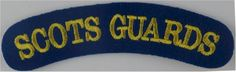 Scots Guards - Current Pattern Yellow On Blue Sew-on Army cloth shoulder title for sale Drum Major, British Armed Forces, Military Insignia, Fun World, Commonwealth, Military History, Badges, Division, Yellow