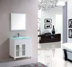 "London 31.5"" Bathroom Vanity White - York Taps"