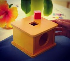 Simple and natural made toys are perfect to not distract the child from the task at hand. Here is the incubare box with cube. Video link in profileNurture Your Child's Full Potential.  . . . . montessorichild #children #montessorihome #montessoriconsultant #independence #simplicity #naturalmaterial #nobatteries #montessori  #montessoriparent #montessoritoys