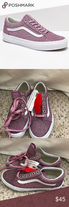 7a9d09d3f1 Vans Lurex Glitter Vans Lurex Pink Glitter in Size 7. These are brand new  and