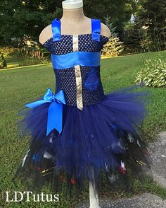 New* Disney Descendants Evie Inspired Tutu Costume Dress with painted skirt
