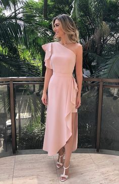 Charming One Shoulder Long Prom Dress 1685 vestidos! Elegant Dresses, Beautiful Dresses, Formal Dresses, Prom Dresses Long Pink, Awesome Dresses, Simple Dresses, Bridesmaid Dresses, Wedding Dresses, Summer Wedding Outfits