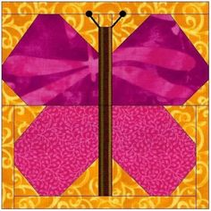 I love paper piecing this Butterfly quilt block is a must do