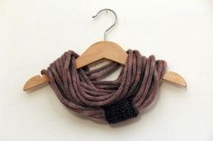 Loop knitted wool necklace knitted cowl icord by Mammacraftshop, €30.00