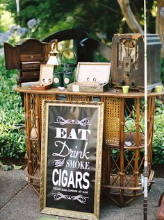 wedding cigar bars - photo by Katie Grant Photography http://ruffledblog.com/elegant-australian-garden-wedding