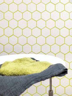 Kitchen Backsplash Tile Patterns Grout New Ideas Geometric Tiles, Hexagon Tiles, Mosaic Tiles, Black Tiles, White Tiles, Coloured Grout, Colored Glass, Herringbone Backsplash, Tile Grout