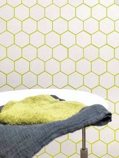 Colored Grout Yellow Grout White Tile