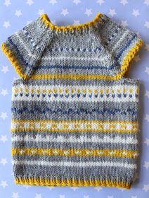 Grundopskrift til selve formen Kids Knitting Patterns, Knitting For Kids, Baby Knitting, Crochet Baby, Knit Crochet, Granny Square Sweater, Norwegian Knitting, Knitted Baby Clothes, Baby Vest