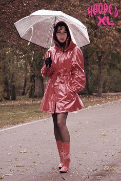 # Red Raincoat, Raincoat Jacket, Plastic Raincoat, Plastic Mac, High Fashion, Womens Fashion, Rain Wear, Sexy Outfits, Windbreaker