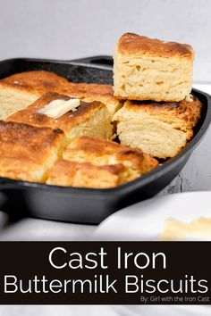 These buttermilk biscuits are made in a cast iron skillet in under an hour! Skip the store bought biscuits and make these easy fluffy skillet biscuits! #biscuits #buttermilkbiscuits #skilletbiscuits #castironbiscuits #castironcooking #homemadebiscuits #baking #howtomakebiscuits Flakey Buttermilk Biscuits Recipe, Buttermilk Recipes, Homemade Biscuits, Biscuit Recipe, Savory Scones, Savory Breakfast, Breakfast Nook, Bread Head, How To Make Biscuits