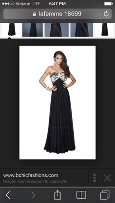 Black prom gown