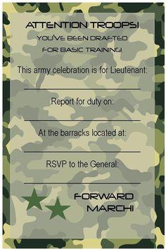 Army Tank Birthday Party
