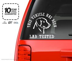 Lab Tested Stickers Car Window Wall Sticker Decal by StickerFlood