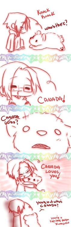 Chibi Canada and Kumajiro, Hetalia Fan Art ~ This is so kawaii (^ω^) ~ Hetalia Funny, Kaichou Wa Maid Sama, Awesome Anime, Manga, Anime Shows, Homestuck, Beautiful World, Nerdy, Otaku