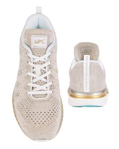 APL TechLoom Metallic Knit Performance Sneaker: Grey - INTERMIX