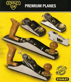 Featuring steel for excellent edge retention and a cast iron base for accuracy, STANLEY® low angle block and bench plane provide comfort and control. Antique Woodworking Tools, Woodworking Projects, Plane Tool, Bbq Island, Tools Hardware, Old Tools, Backyard Bbq, Carpentry, Wood Working