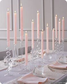 All candles <3 it! Non floral centerpieces