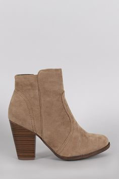"""Description These  booties  have a Western silhouette, featuring stitching details and a stacked heel. Finished with a side zipper for easy on-off wear.Material: Vegan Suede (man-made)Sole: Synthetic  Measurement Heel Height: 3.5"""" (approx)Shaft Length: 7.8"""" (including heel)Top Opening Circumference: 8"""" (approx)   Shop this product here: spree.to/av3y   Shop all of our products at http://spreesy.com/britsstuff      Pinterest selling powered by Spreesy.com"""