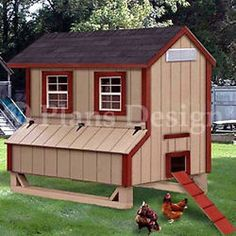 5'x6' Gable Poultry Chicken House / Coop Plans, 90506G