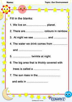 #Class1 #grade1 #OurEnvironment #EVS #worksheets #funlearning