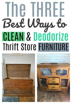 Upcycled Crafts Reuse Thrift Stores - Ways to clean thrift store and second hand furniture. Furniture Repair, Old Furniture, Paint Furniture, Repurposed Furniture, Furniture Projects, Furniture Makeover, Furniture Cleaning, Street Furniture, Cheap Furniture