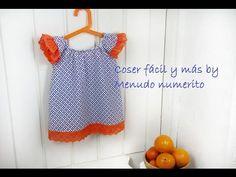 """El blog de """"Coser fácil y más by Menudo numerito"""": Top o vestido fácil para niñas"""