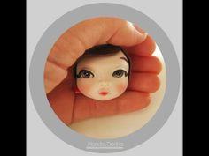 Tutorial Makeup Modeling HEAD Fondant - Cake Design - Trucco Viso in PDZ - YouTube