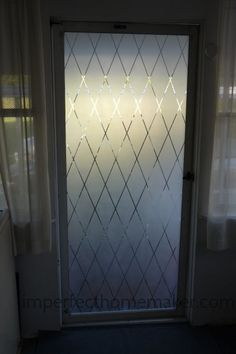 Pretty Frosted Glass Door - Imperfect Homemaker