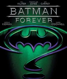 Alternate Batman Forever movie poster in 1995. #batman #typography