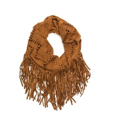TAN Go Southwest Fringe Infinity Scarf (5.240 CLP) ❤ liked on Polyvore featuring accessories, scarves, tan, fringe infinity scarves, circle scarves, long infinity scarf, tribal infinity scarf and tube scarf