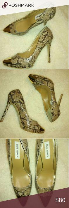 Shoes Steve Madden pumps heel casual  snake Steve Madden Shoes Heels