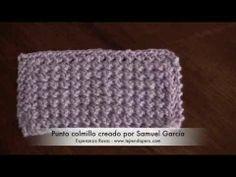 Punto colmillo en dos agujas creado por Samuel García