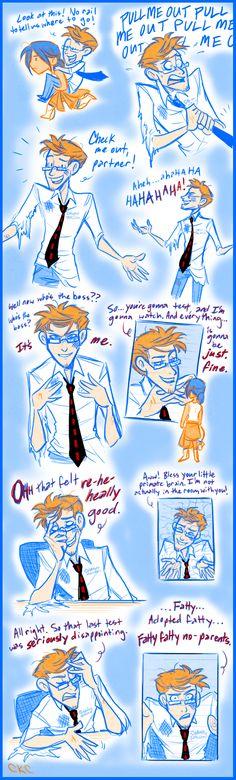 (Human) Wheatley Scribbles 2  by *Inonibird