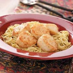 Scallop Pesto Pasta Recipe